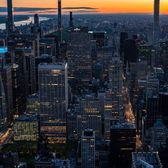 Sunrise from Empire State Building, Midtown, Manhattan