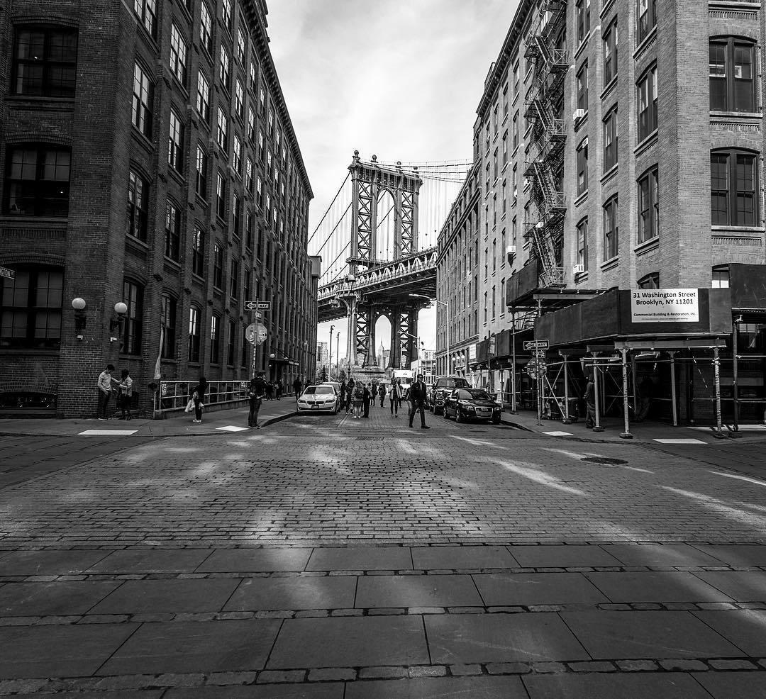 Manhattan Bridge Dumbo Brooklyn New York Viewing Nyc