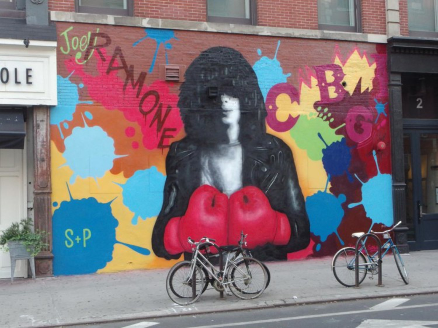 Ramones Tribute Mural Goes up on the Bowery, Across from Former CBGB