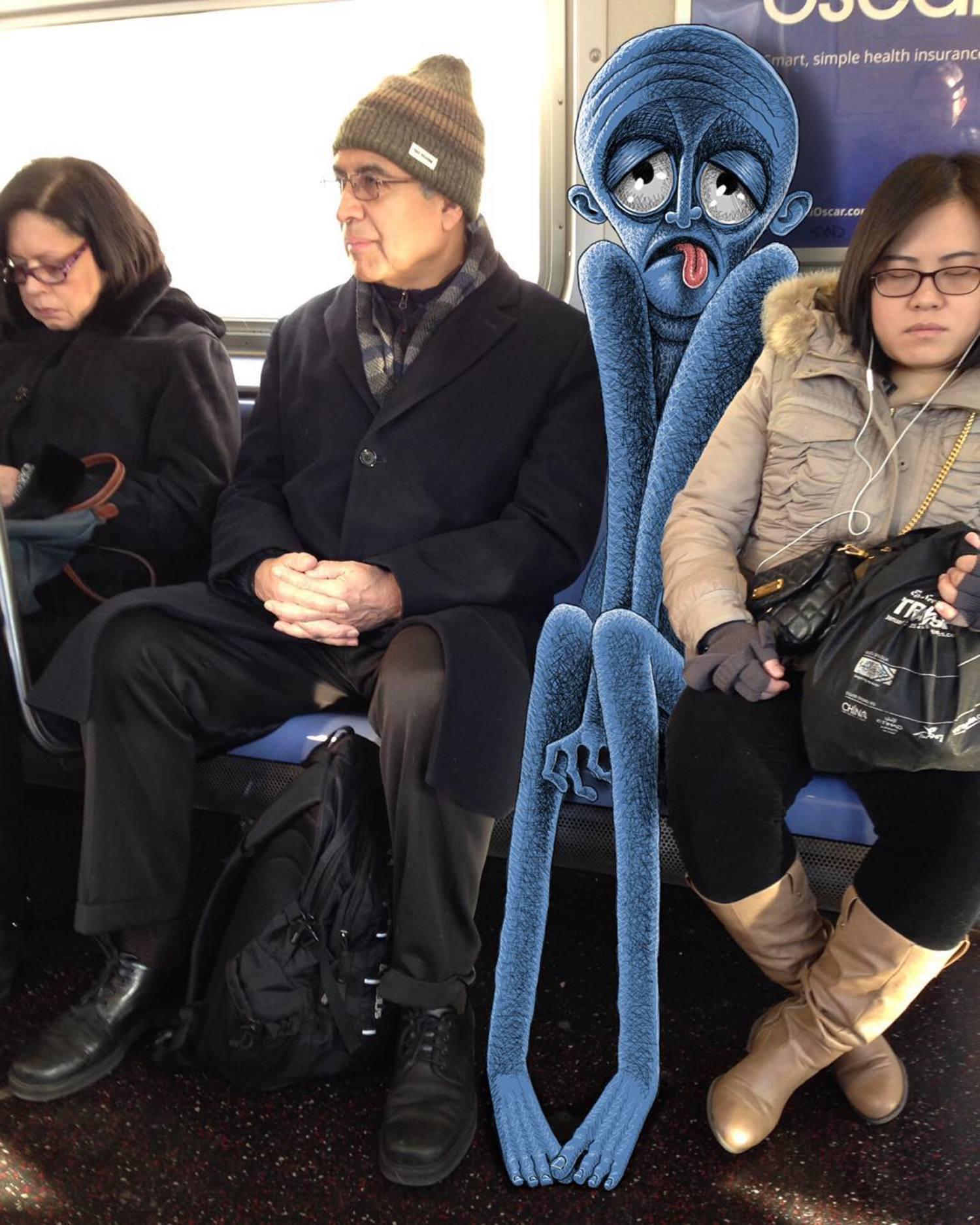 #subwaydoodle #subway #doodle #swd #mondays #manspreading #mondaymanspread #etiquette #squished #squooshed