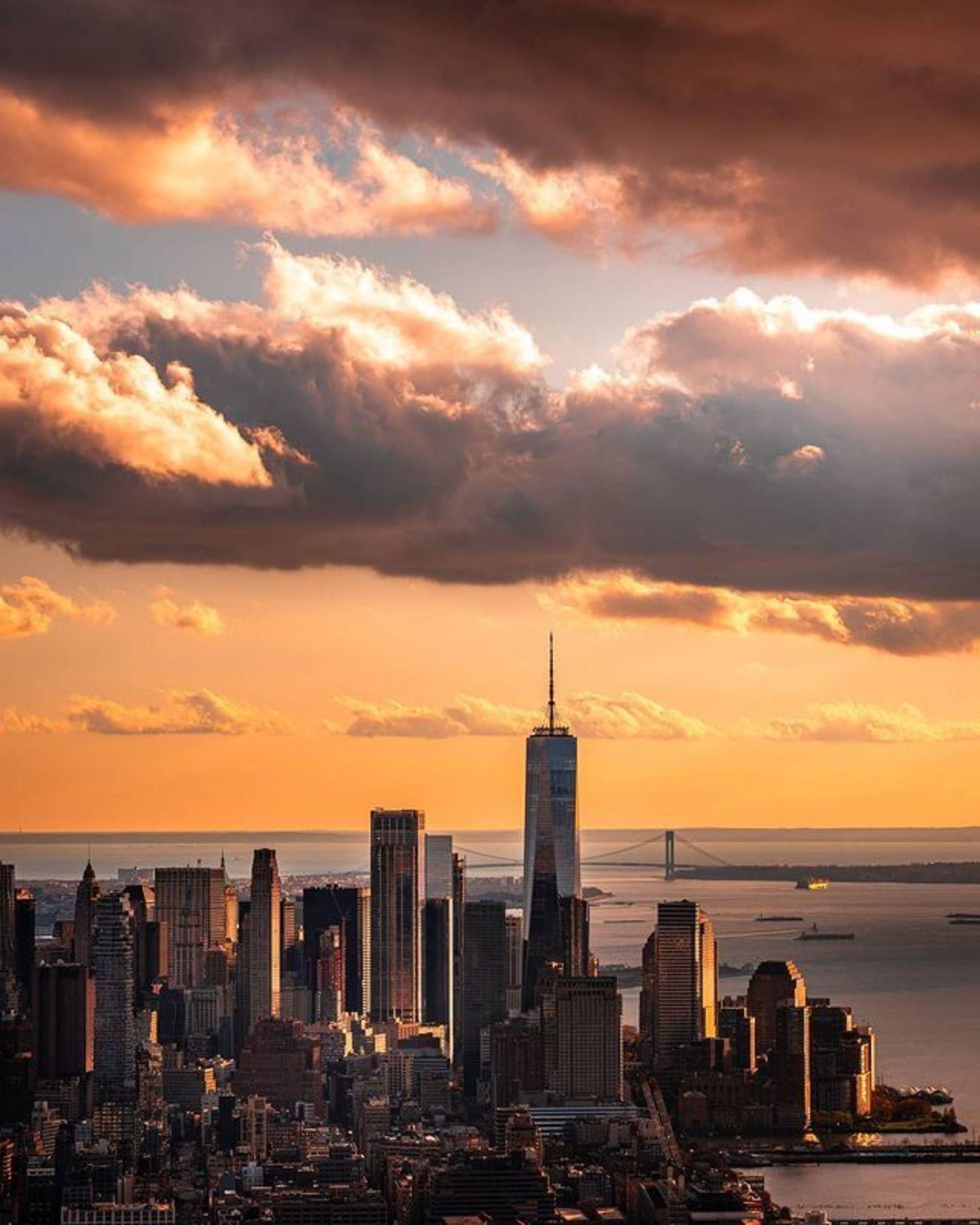 Sunset over Lower Manhattan from The Edge, Hudson Yards