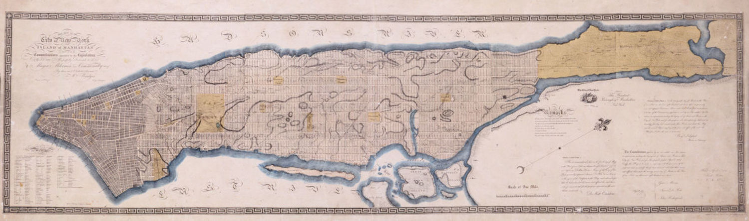 A map of the City of New York, from 1811.