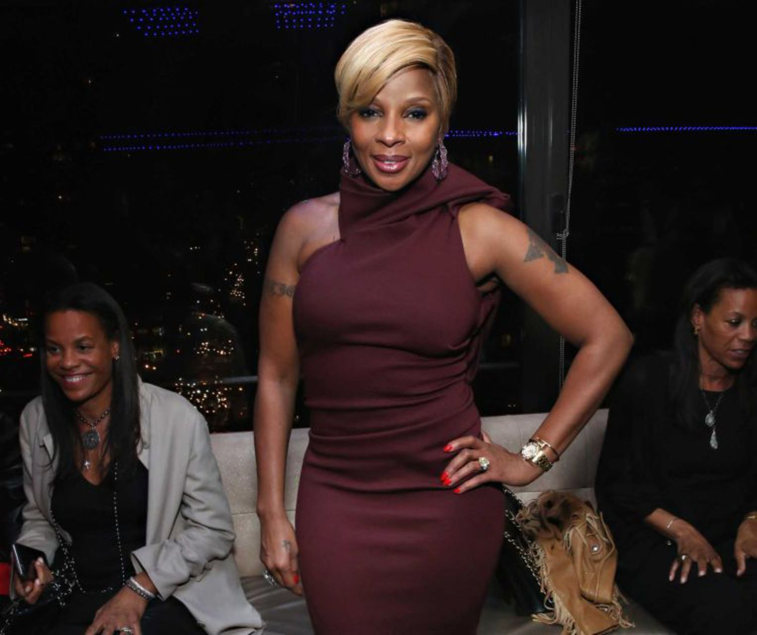 "Mary J. Blige attends the Tribeca Film Festival after-party for ""Mary J. Blige: The London Sessions"" at the Empire Hotel Rooftop in Manhattan on Thursday, April 16, 2015."
