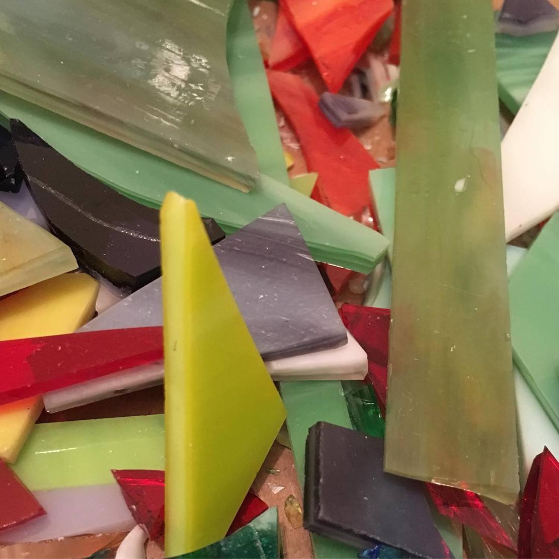 Pigeon scraps #birdup #pigeon #waste #glass #art #colorful #streetart #process #work #artoftheday #streetlightpigeon #gbpigeonnyc