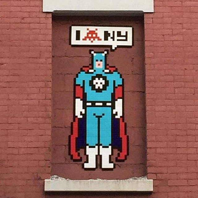Street Artist Invader Unveils His 147th Nyc Mosaic Tile