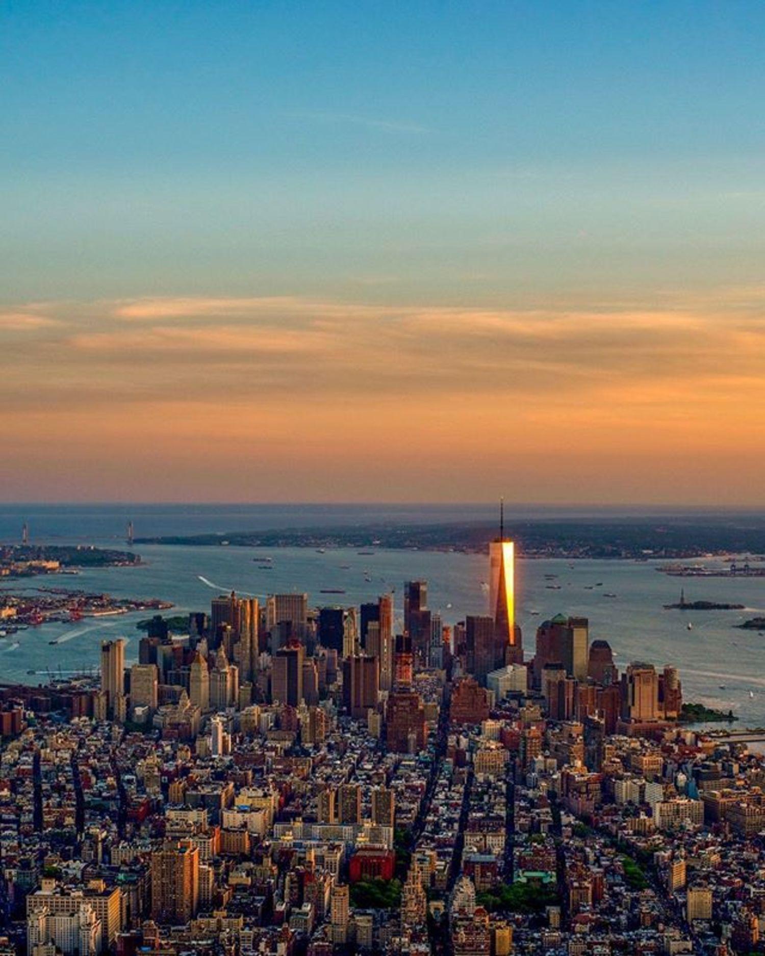 Sunset Over Lower Manhattan, New York