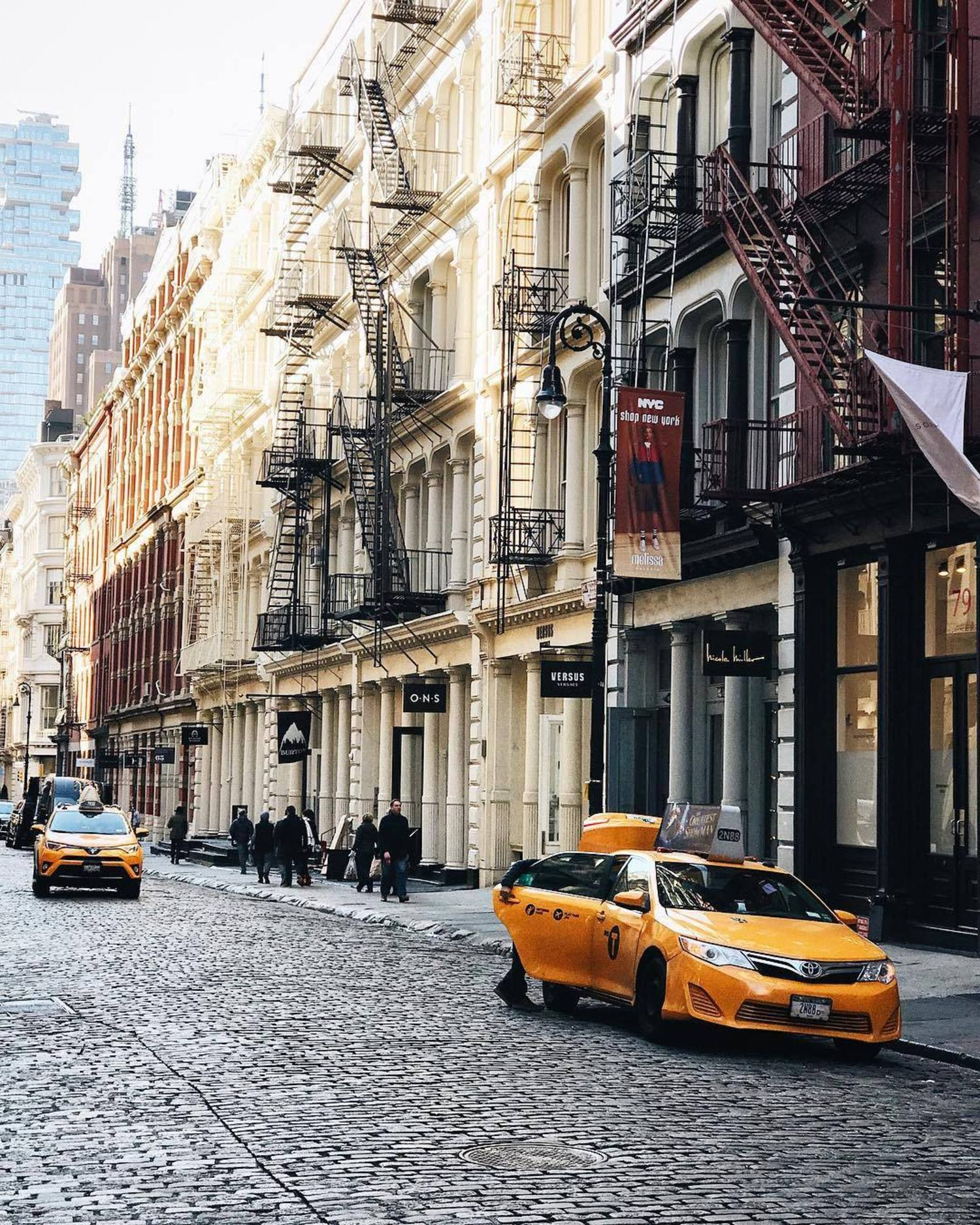 Cast iron & Cobblestones ~ the streets of #SoHo 🚕