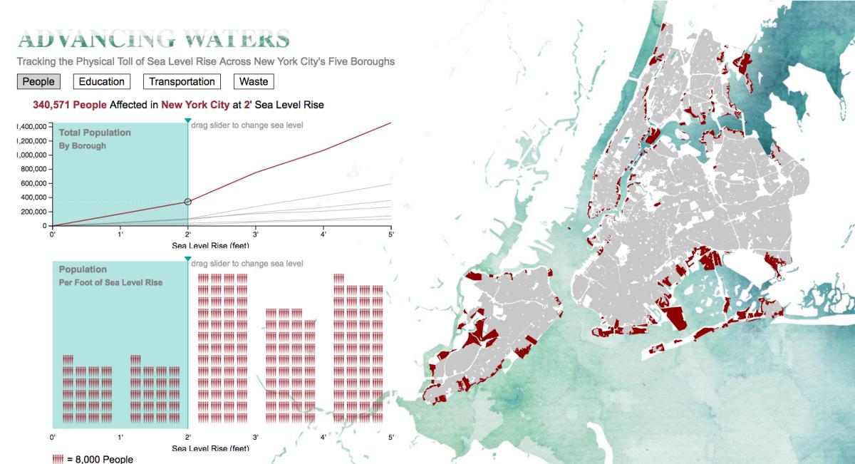 interactive map tracks how even slight sea level rises