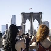 Brooklyn Bridge Tourists