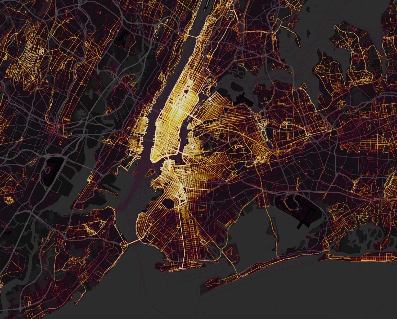 Tracked running activity in New York City (screenshot)