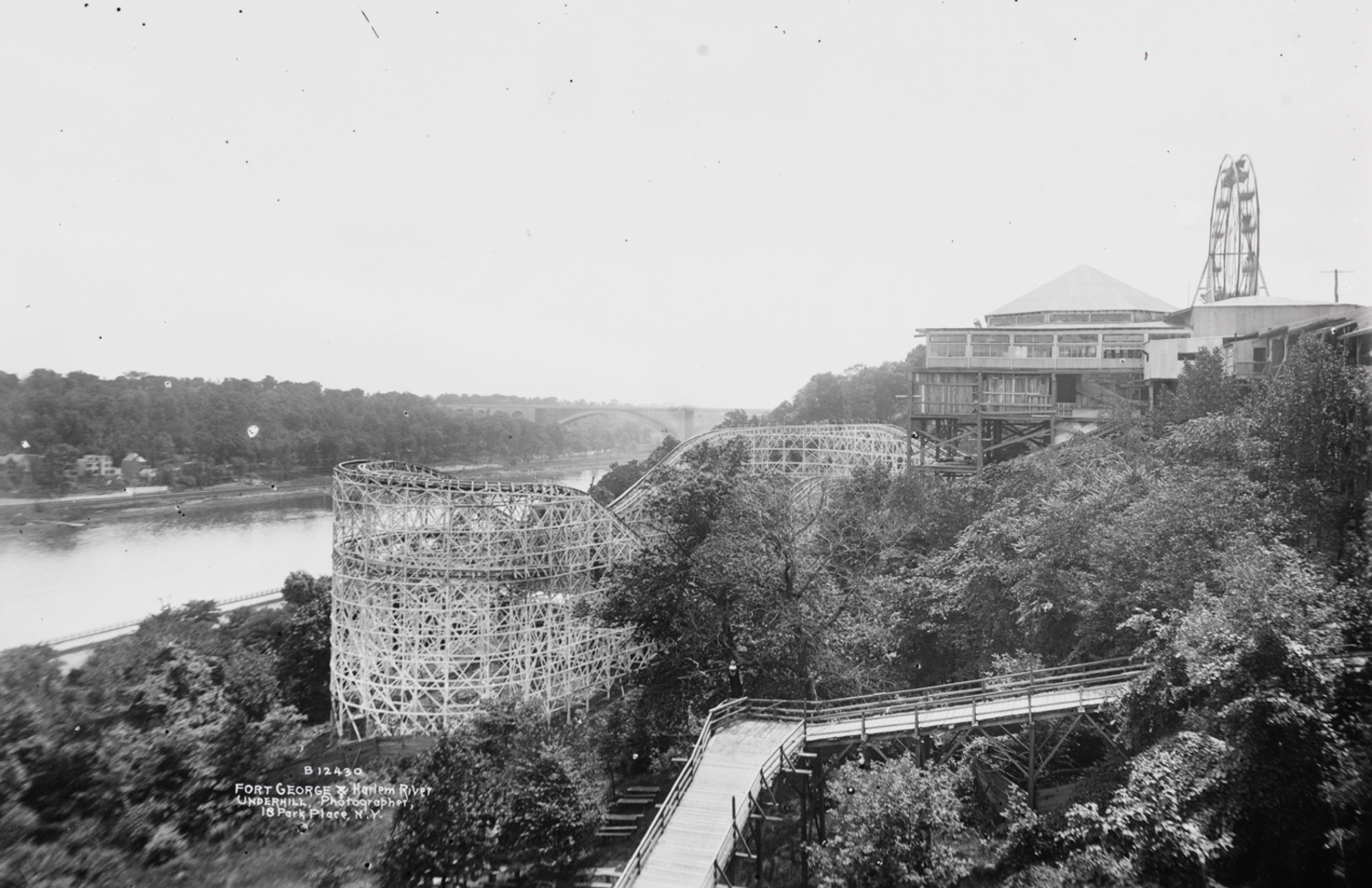 Fort George and Harlem River. ca. 1900.