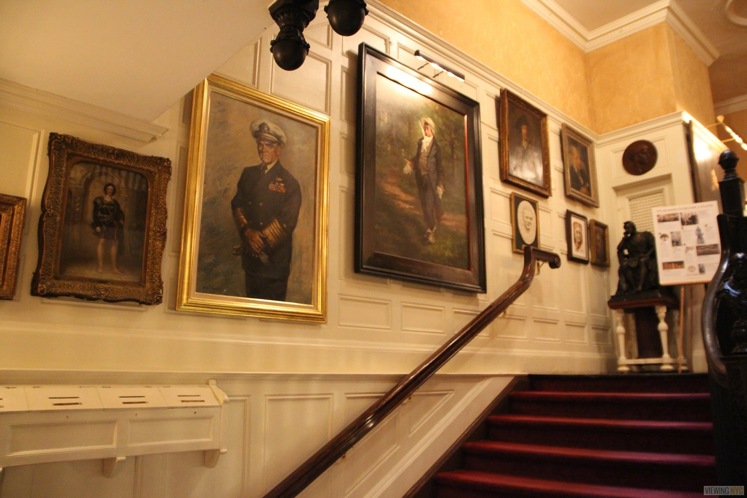 Portraits Along Entrance Staircase