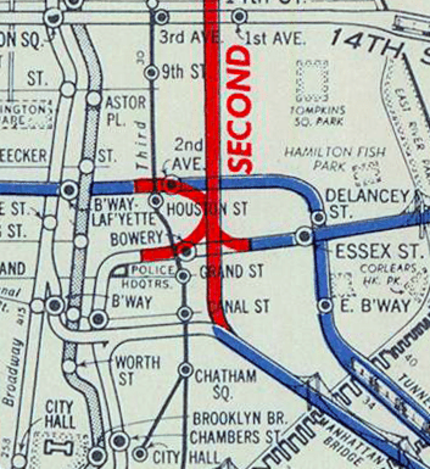 New Second Avenue Subway Map.Map Porn A History Of Second Avenue Subway Through Vintage Maps