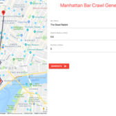 Manhattan Bar Crawl Generator (screenshot)