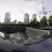 VR New York - A Walk Around 9/11 Memorial. 3D 360 video shot with the Vuze camera