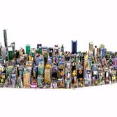 Midtown Manhattan, discarded electronics, 165x80cm