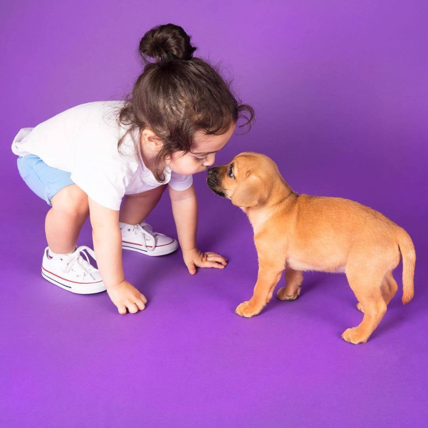 There are good kisses and bad kisses but there is no kiss like a NOSE KISS! Come hang with your bestie at @humansbf 🐾 Don't have a puppy friend? No problem! We are partnering with a dozen NYC rescue groups to feature dogs for adoption and play ❤️#humansbf