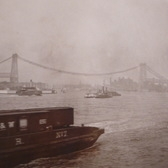 Williamsburg Bridge Under Construction As Viewed From The East River 1901