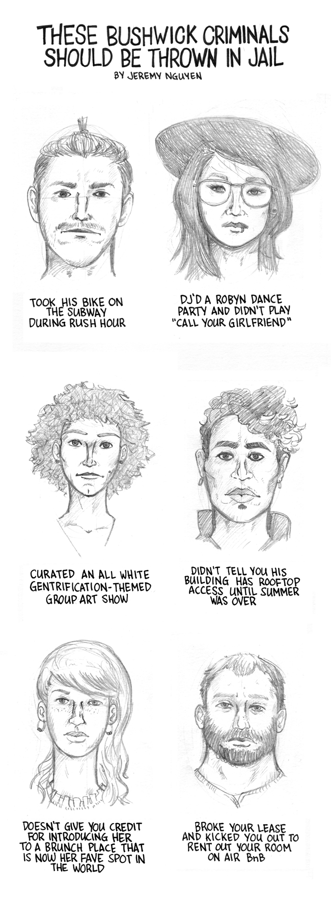 Police Sketches of Bushwick's Social Criminals