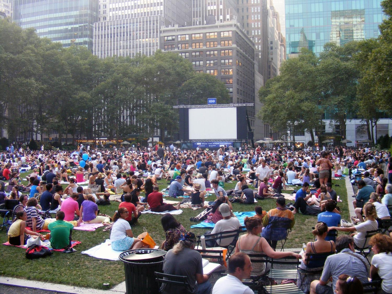 Outdoor Movie in Bryant Park