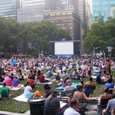 Outdoor Movie in Bryant Park