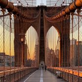 Sunset Over Brooklyn Bridge, New York