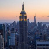 Empire State Building from Rockefeller Center, Manhattan