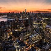 Sunset over New York, New York