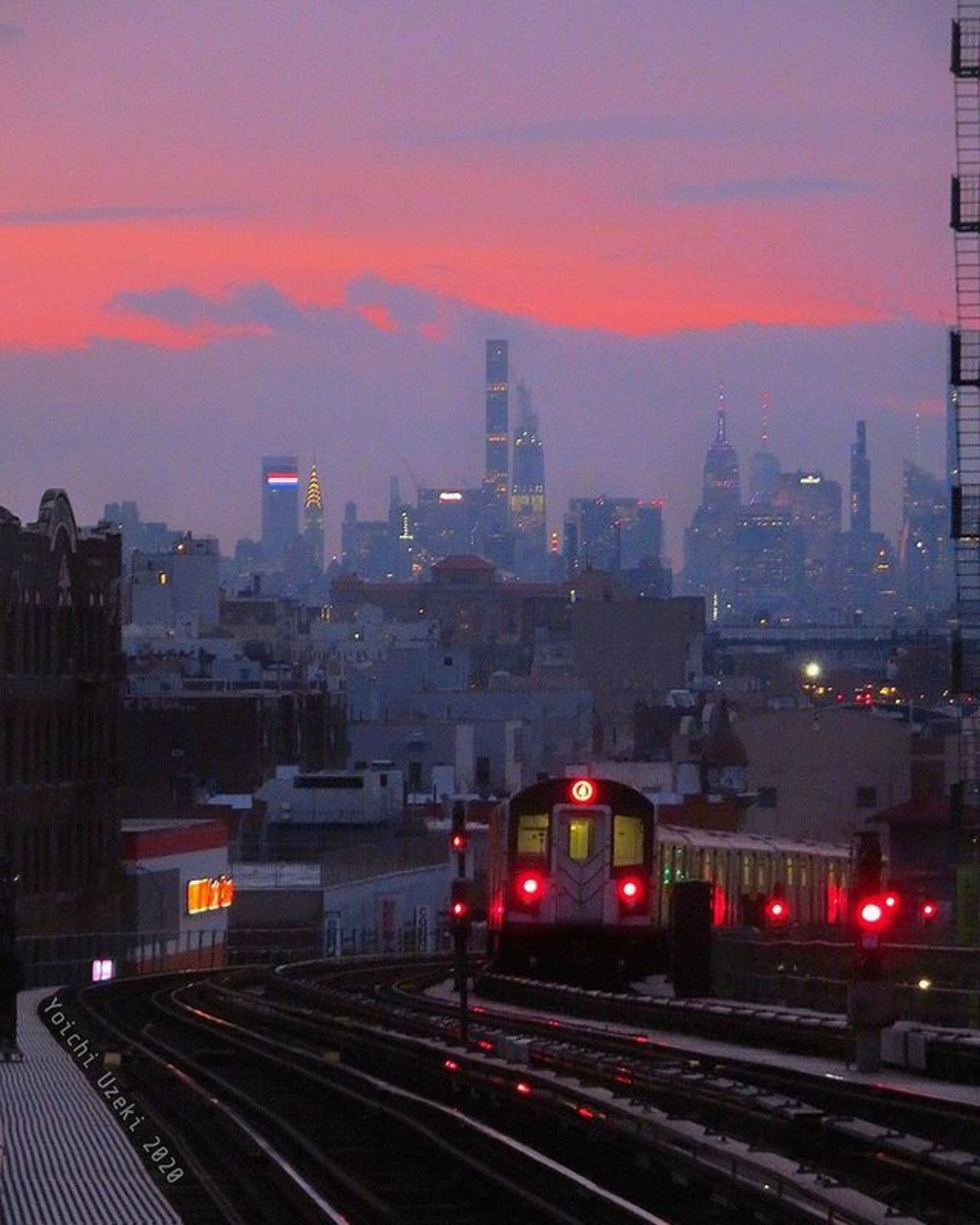 Sunset Over Manhattan from The Bronx