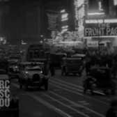 May 1931 - New York City Theater District at Night (real sound)
