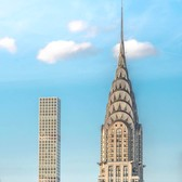 The Chrysler Building and 432 Park Avenue, midtown Manhattan.