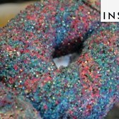 Edible Glitter Rainbow Bagels