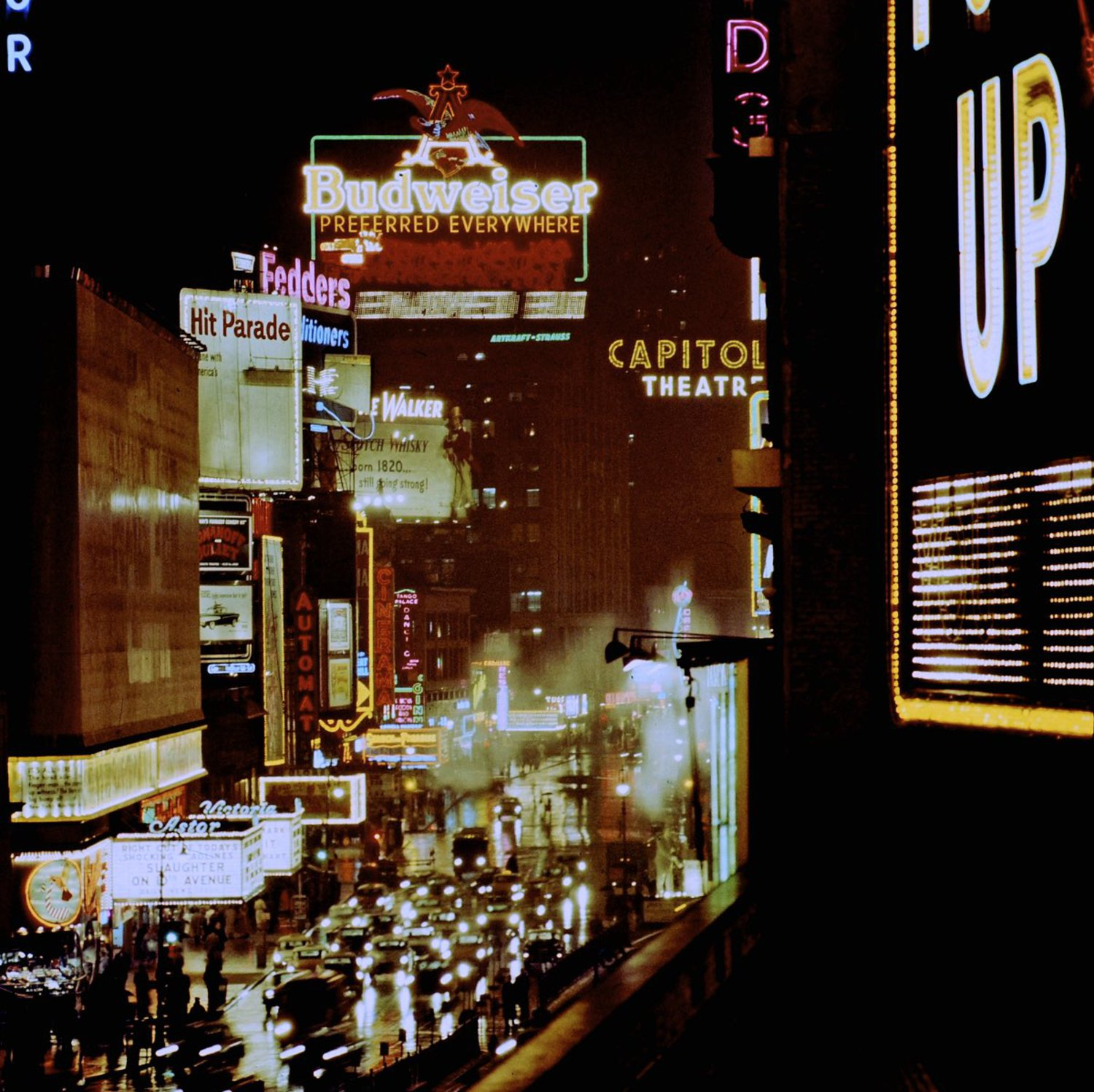 1957 Times Square Lights.