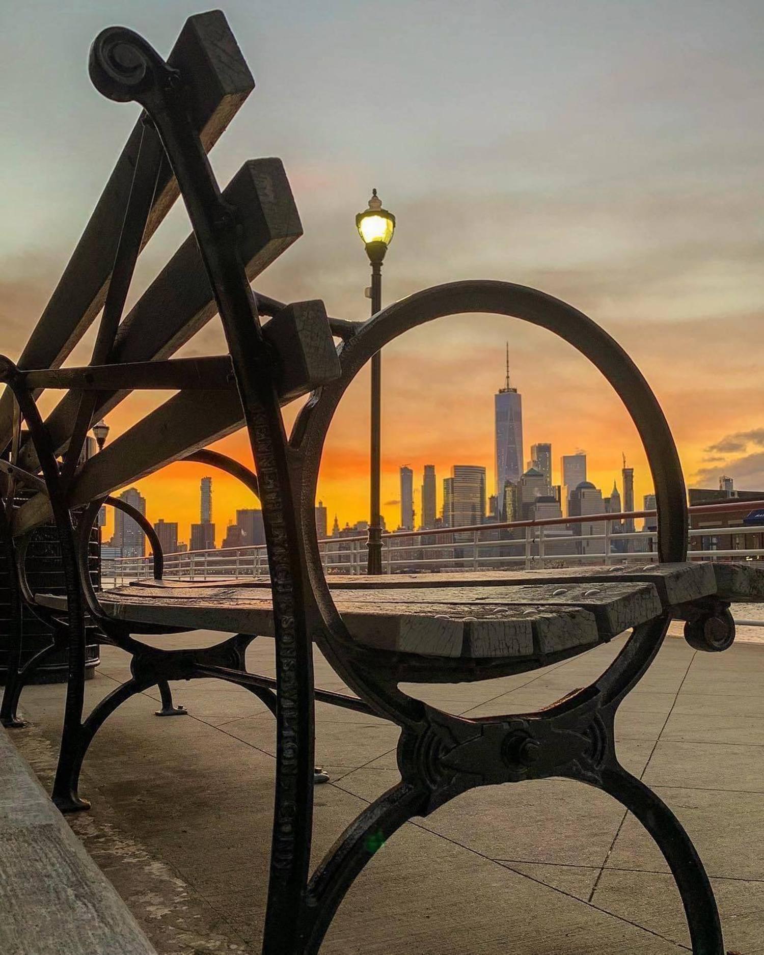 Sunrise over New York. Photo via @nyclovesnyc #viewingnyc #nyc #newyork #newyorkcity #sunrise