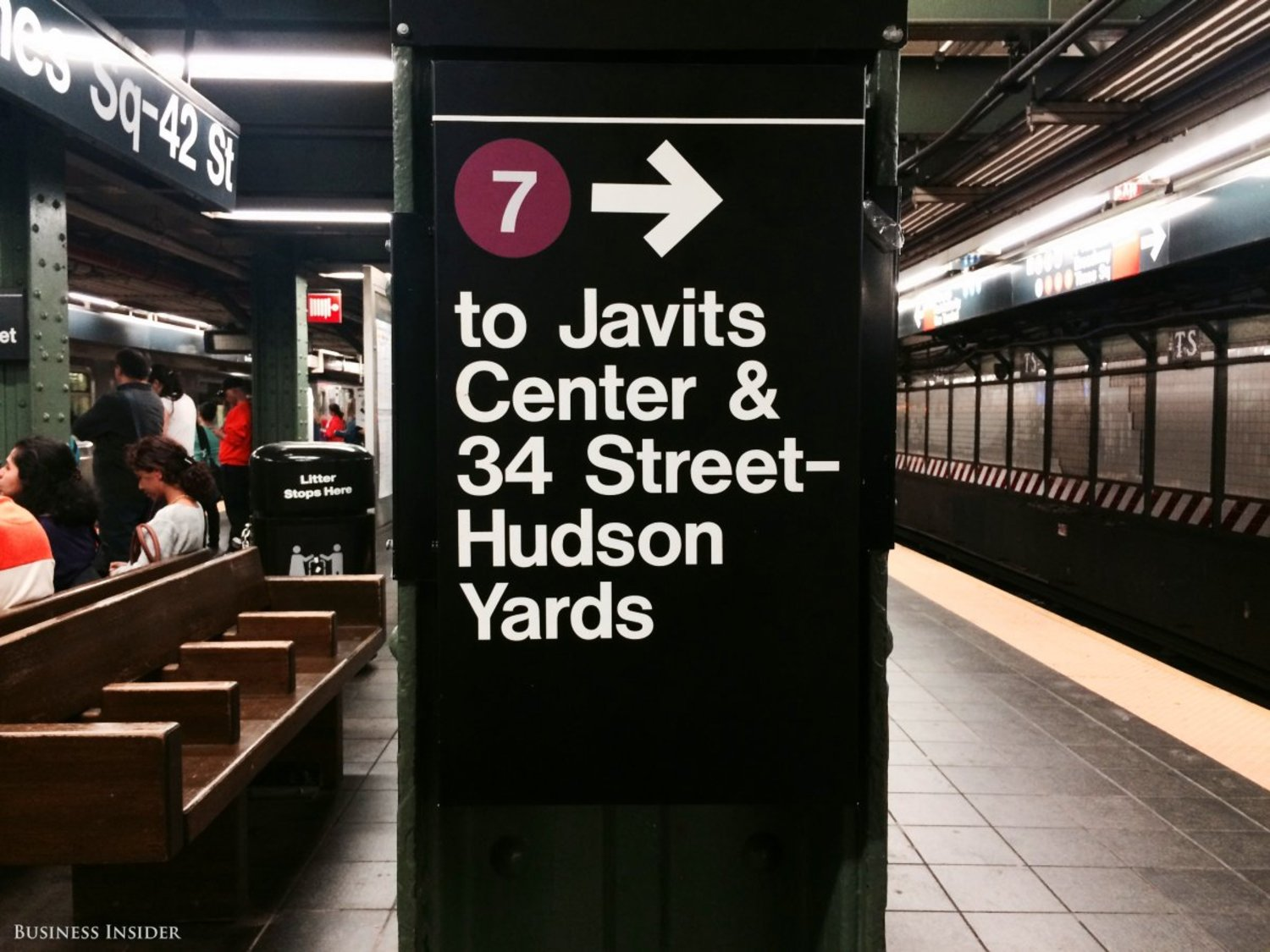 I hopped on the train at Times Square — 42nd Street. After navigating the labyrinth of platforms in the enormous Times Square station, I finally found the 7.