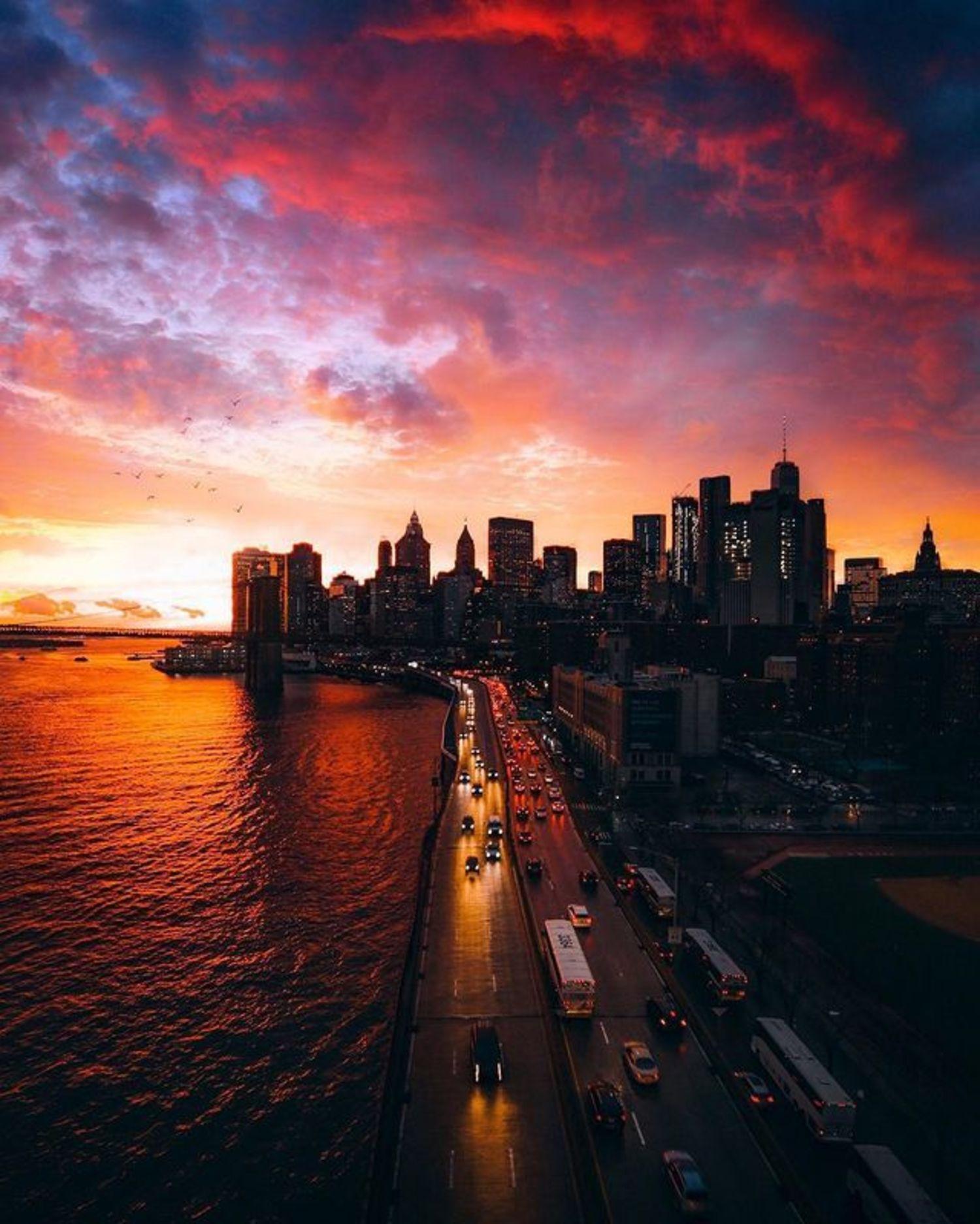 Lower Manhattan from Manhattan Bridge
