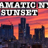 DRAMATIC NYC SUNSET: SKYLINE Sunset to Night