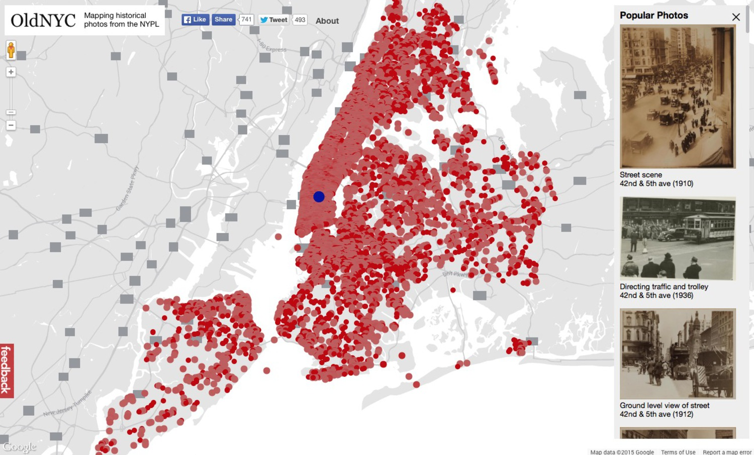 Oldnyc An Interactive Map Showing Locations Of Historical New York
