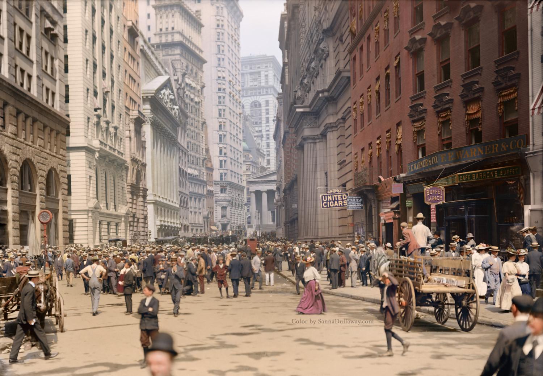 Looking North on Broad Street near Beaver Street, ca. 1900.
