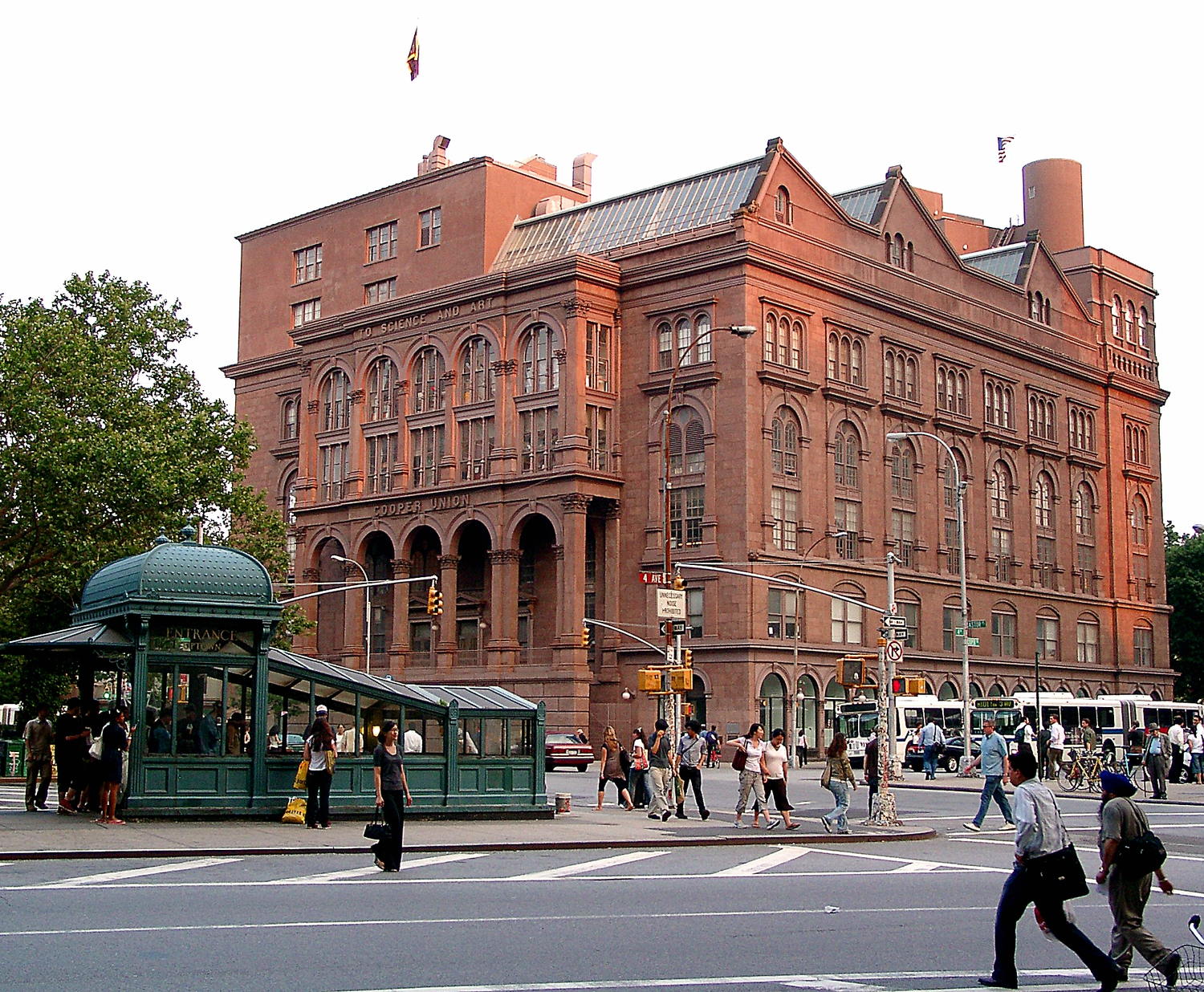 "Cooper Union | Abraham Lincoln (16th President of the United States) gave his immortal <a href=""http://showcase.netins.net/web/creative/lincoln/speeches/cooper.htm"" rel=""nofollow"">'Cooper Union Address'</a> in this building on February 27, 1860.  The building is easy to find in Manhattan, just two short blocks east of Broadway on East 8th Street.  [06190020]"