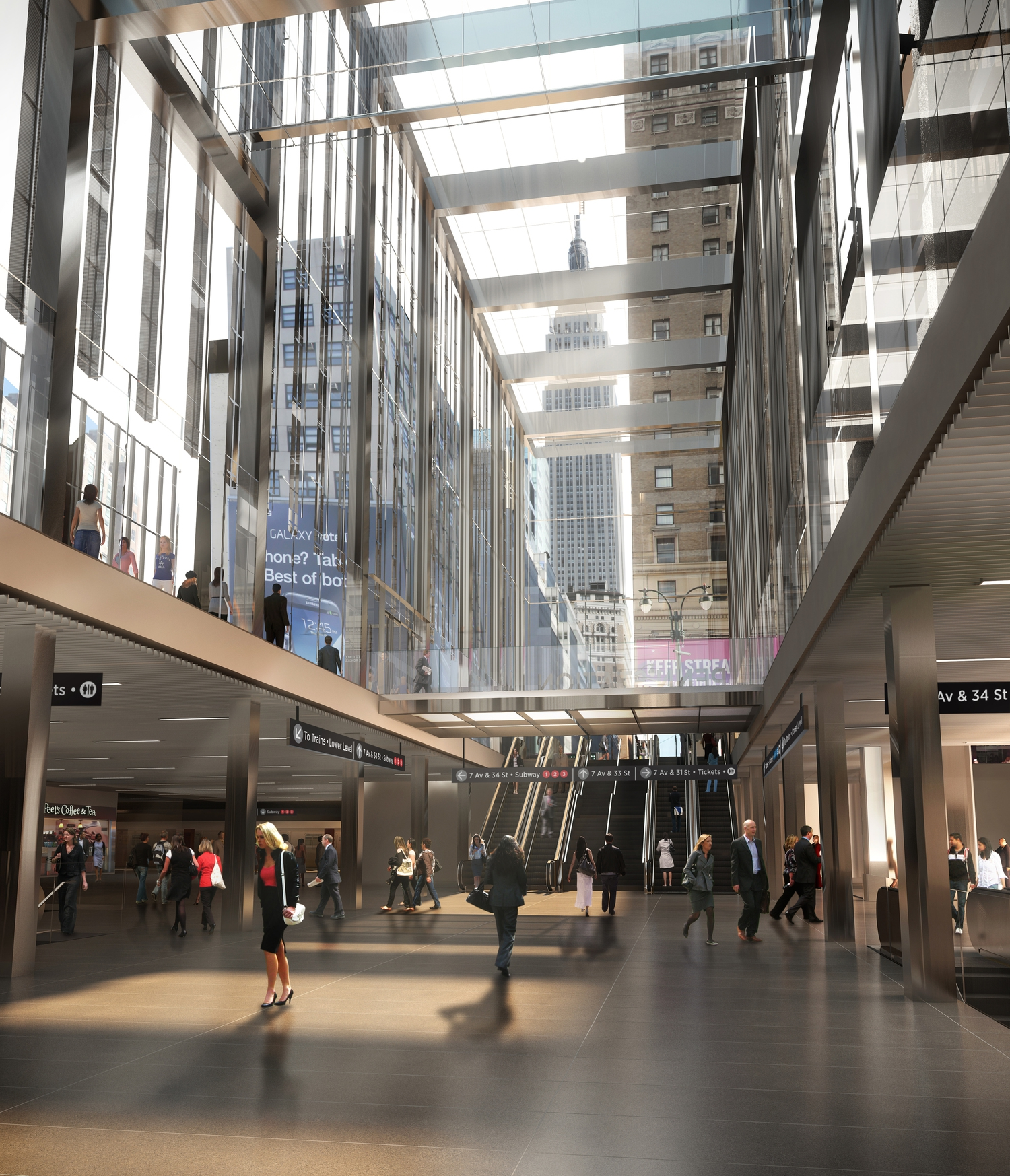 New LIRR 33rd Street Concourse Rendering | Rendering of new LIRR 33rd Street Concourse at Penn Station.