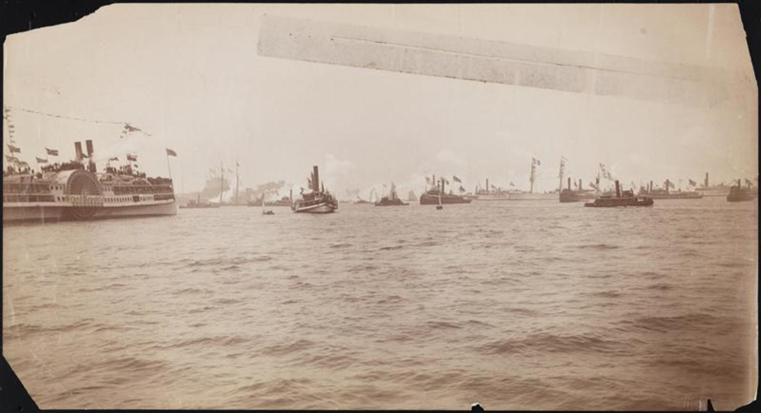 Arrival in New York Harbor of the Statue of Liberty, 1885.