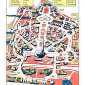 Beautiful retro map of the 1940 New York World's Fair