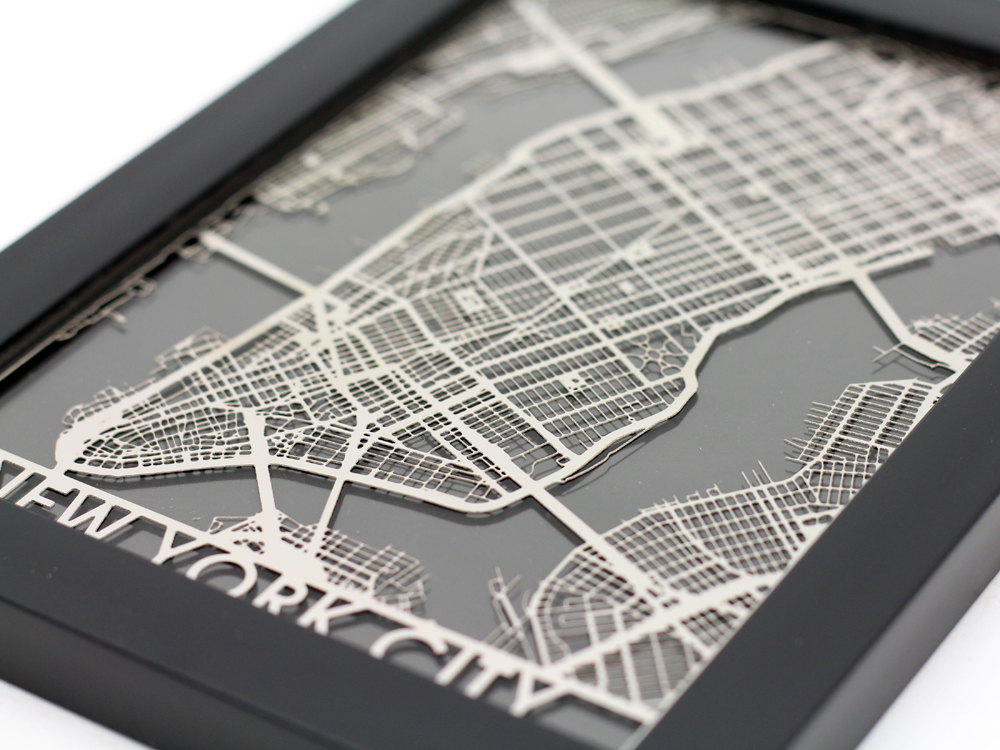 Steel Maps Of Us Cities - Steel maps of us cities