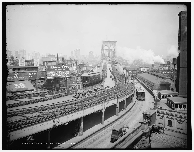 Brooklyn Bridge, Brooklyn Terminal, 1903