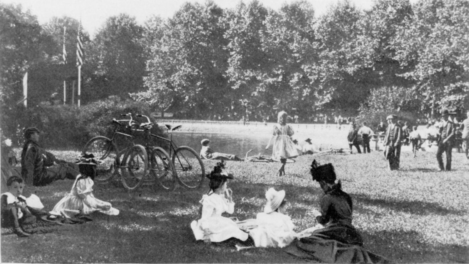 Music in the Park, Brooklyn, 1897.