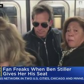 Ben Stiller Gives Woman Seat On Subway