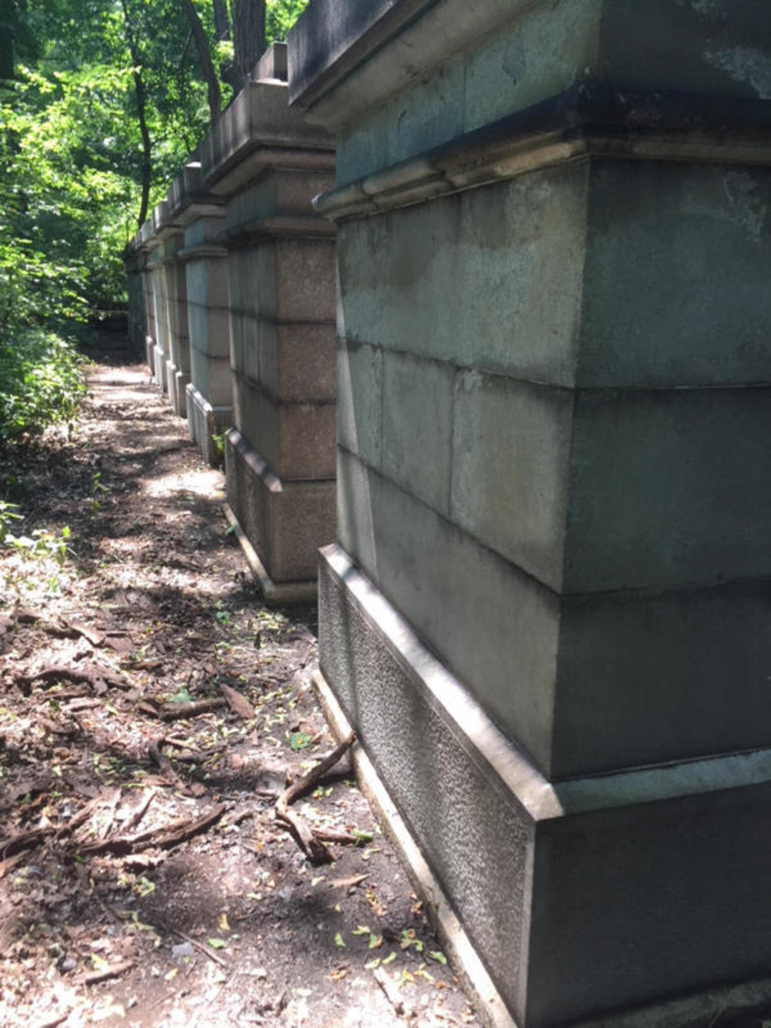 Test Stone Pillars for Grand Central Terminal Are Restored in Van Cortlandt Park