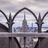 Empire State Building from Top of the Rock, Midtown, Manhattan