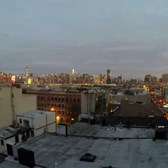 Timelapse. Manhattan sunrise from Brooklyn